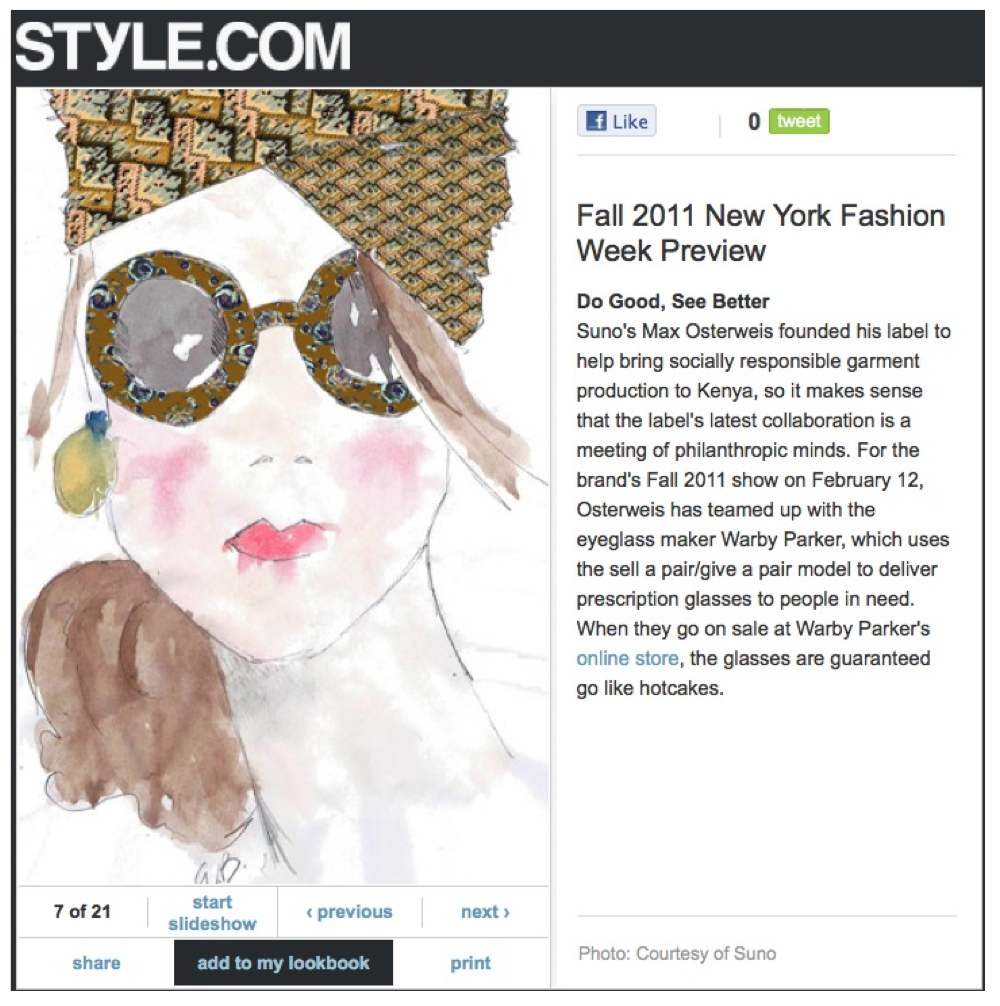 Client: Warby Parker Eyewear, Publication: Style.com