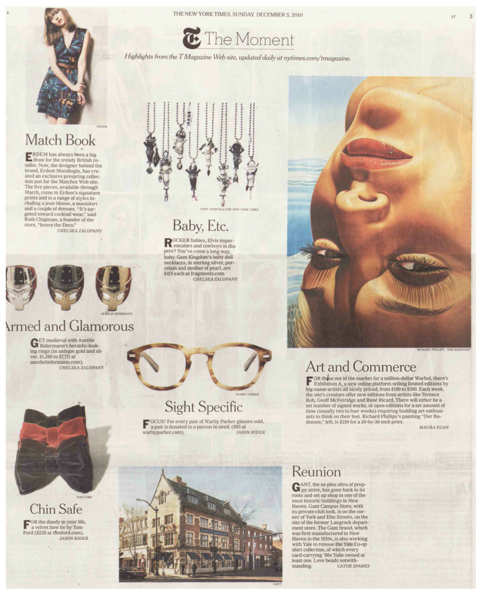 Client: Warby Parker Eyewear, Publication: New York Times