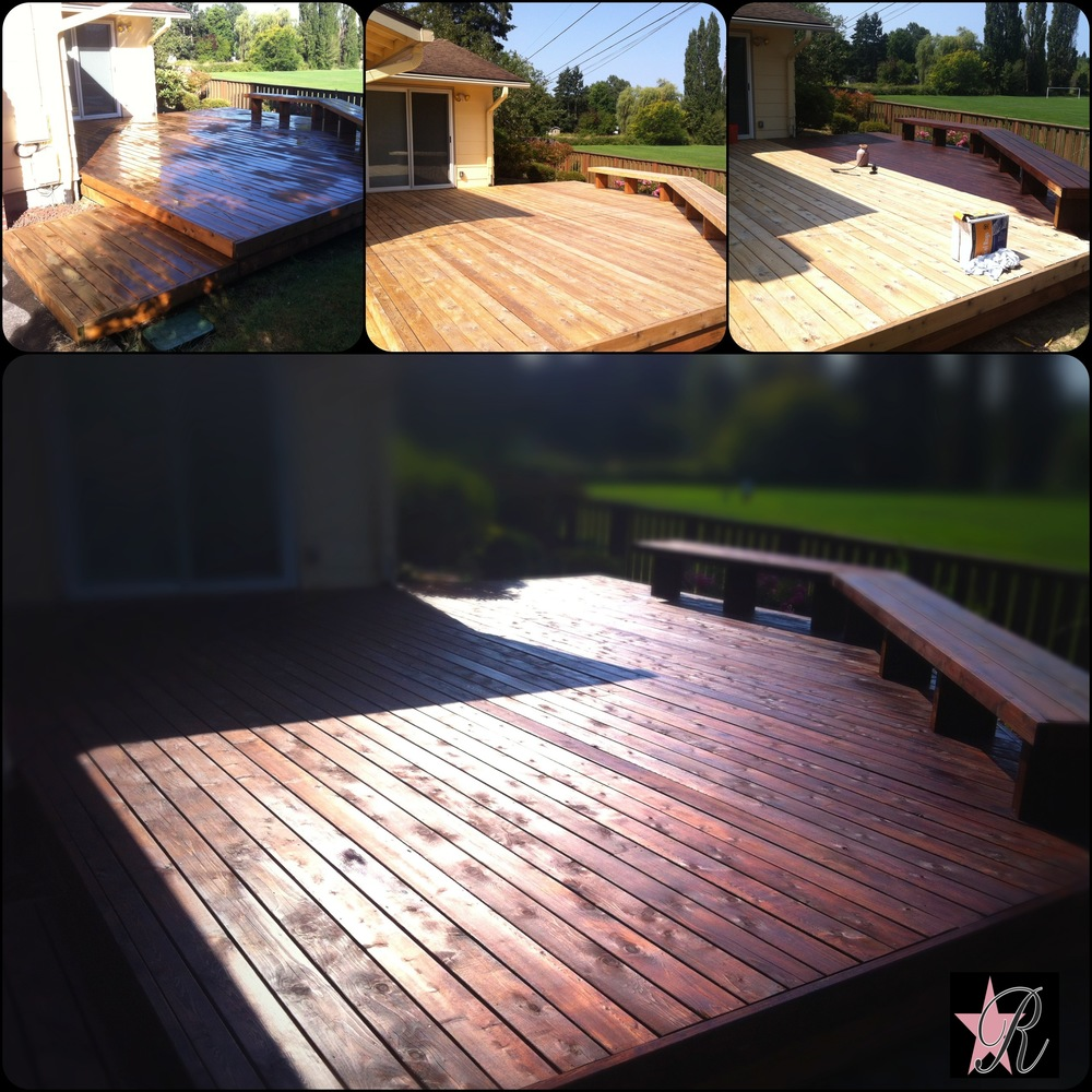 For this, Rockstar Remodel stripped, conditioned and stained this deck with Penofin Verde, a premium environmentally friendly product.