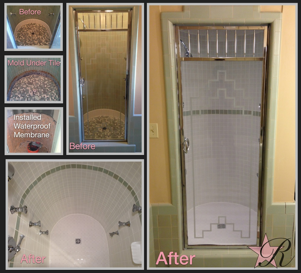 This shower was leaking so Rockstar Remodel took out the old tile and found mold beneath. After cleaning out the mold, Rockstar Remodel installed a Schluter waterproof membrane and retiled.