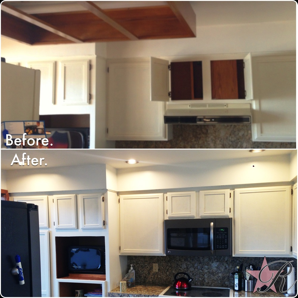 Brendan Hutchins was also a licensed Journeyman Electrician through DeKorte Electric at the time of this project. Here he installed recessed lights and a microwave hood fan. In order for there to be room for the new microwave hood fan, he also modified the above cabinet.