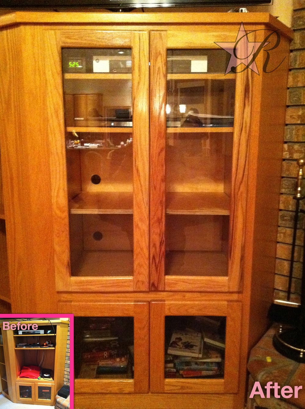 This client wanted cabinet doors to match the existing lower doors.