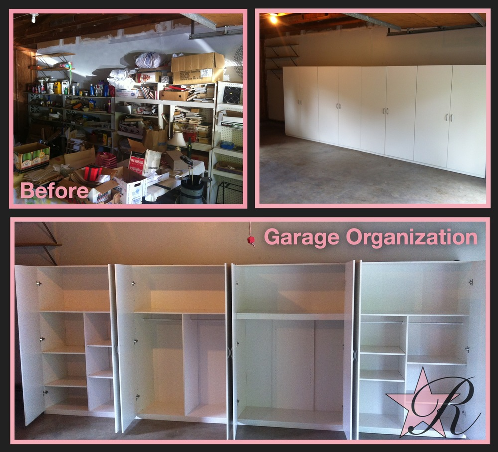 These organizers were also pre-fabricated. Rockstar Remodel assembled them and secured them to the garage wall.