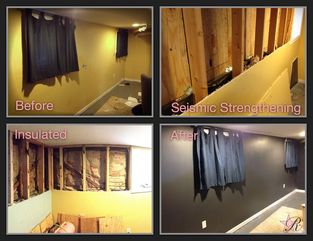 This client wanted his basement retrofit so if an earthquake were to strike his house would be supported.