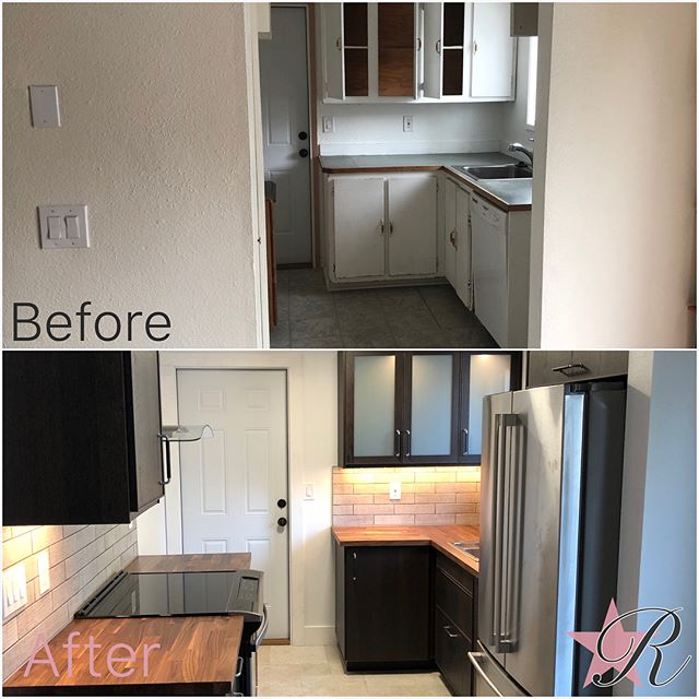 North Tabor Kitchen Remodel and bathroom backsplash.