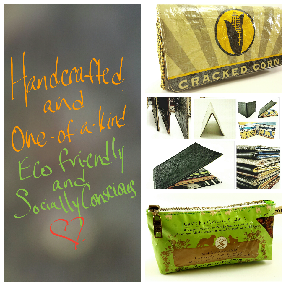 START THE SUMMER WITH FEELING GOOD ABOUT WHAT YOU WEAR AND WHAT YOU SUPPORT! WHETHER IT'S A GIFT FOR YOURSELF OR SOMEONE ELSE, THESE ARTISTIC AND SUSTAINABLE BAGS SUPPORT INNOVATIVE DESIGN AS WELL AS ENVIRONMENTAL AND SOCIAL AWARENESS. HANDCRAFTED AND ONE-OF-A-KIND, ALL OF OUR BAGS ARE MADE FROM UP-CYCLED PET FOOD BAGS AND OTHER RE-PURPOSED MATERIALS AS WELL AS FABULOUS VINTAGE AND CONTEMPORARY FABRICS. A PORTION OF EVERY SALE IS GIVEN BACK TO ANIMAL SHELTERS AND RESCUE ORGANIZATIONS. SO YOU CAN FEEL GREAT AS WELL AS LOOK GREAT WHEN YOU SUPPORT ECO PET HANDBAGS!