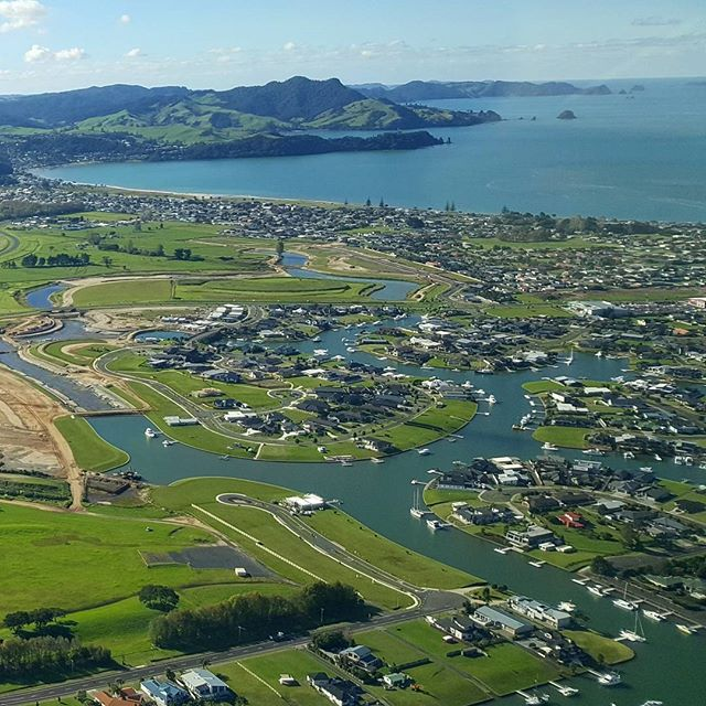 The Waterways looked absolutely stunning today!  #whitianga #whitiangawaterways #autumn #birdseyeview #plane #clearskies #crisp #airfield #waterfront #coromandel #newzealand
