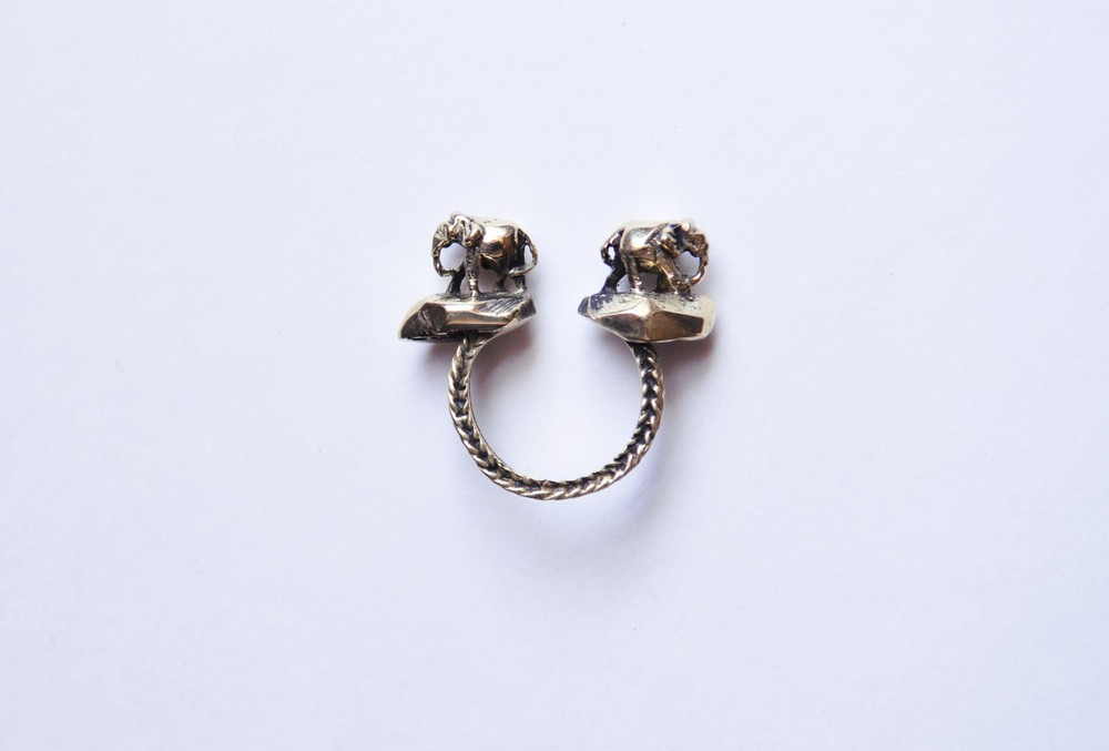 Ellie and Iphie, double Elephant ring, available at OZMAAUTONOMY.com