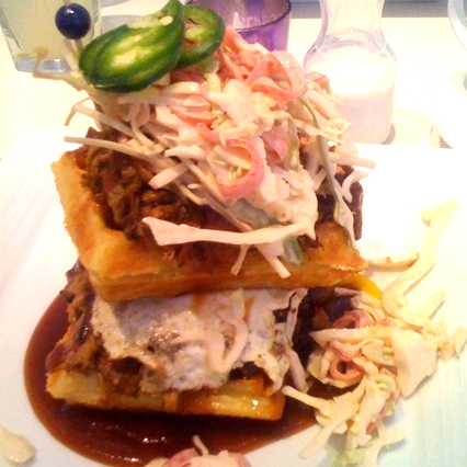 BBQ Pulled Pork Waffle @ Sugar and Plumm