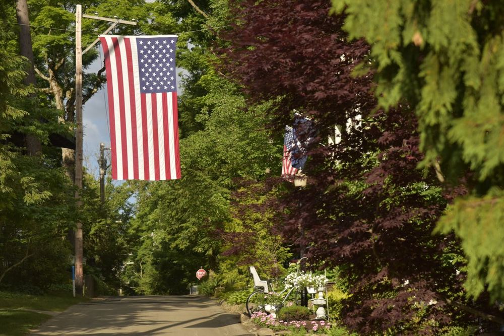 The American Flag, a ubiquitous part of the Chautauqua landscape