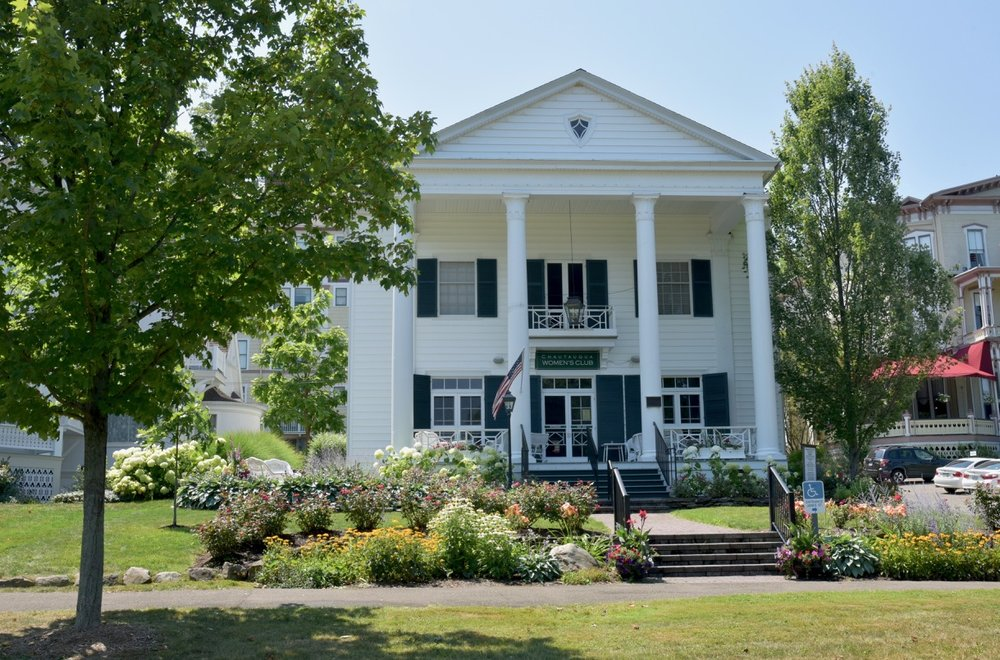 Chautauqua Women's Club - refined and inviting elegance. Programs and talks occur throughout the week and the CWC provides generous scholarship support to students.