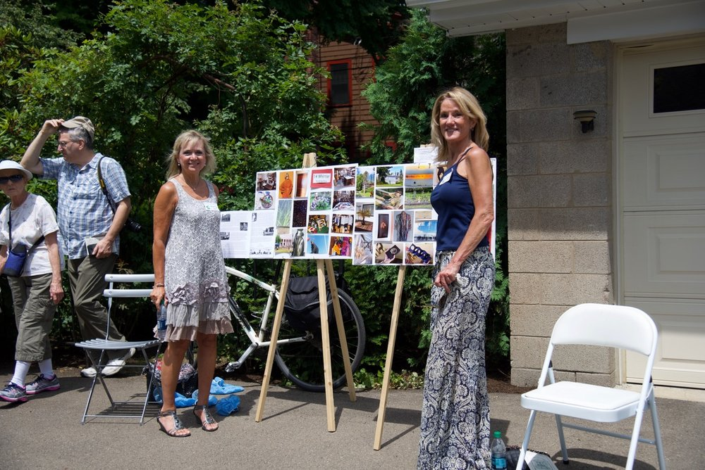 Cynthia Norton design studio and other features displayed on photo boards