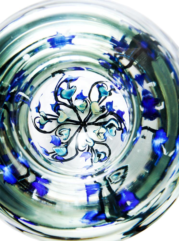 Lotton Dancing Leaves Bowl w Blue Bleeding Hearts 2 - 7.5x7 white.jpg