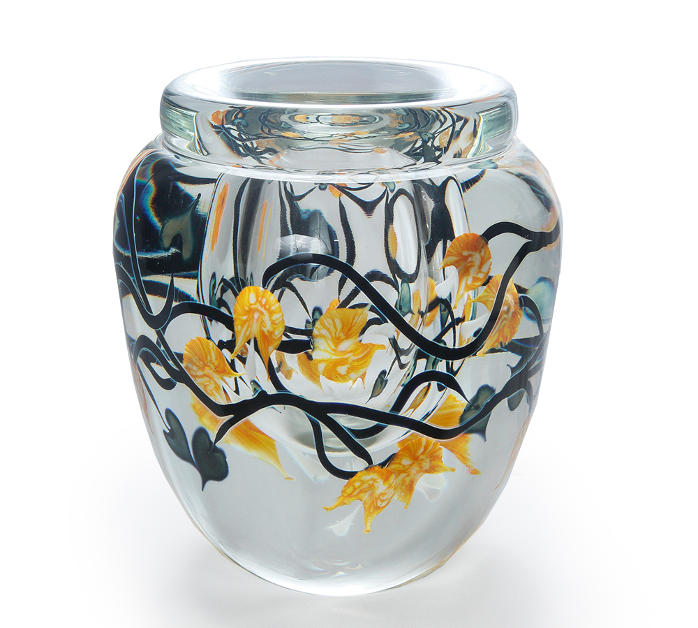 Lotton Off The Vine Mango Bleeding Heart Vase 1 - 9x7 shadow.jpg