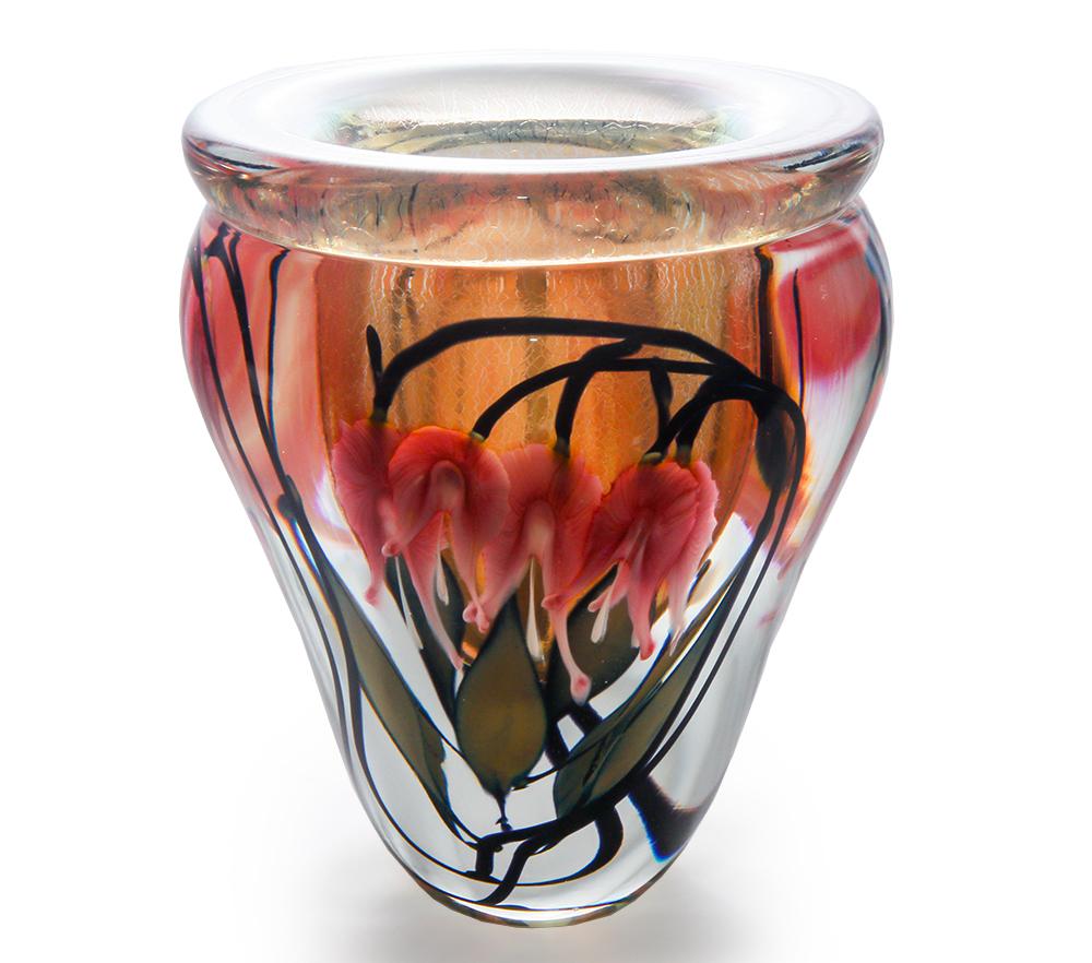 Lotton Sunset Vase w Pink Bleeding Hearts 1 - 9.5x8 shadow.jpg
