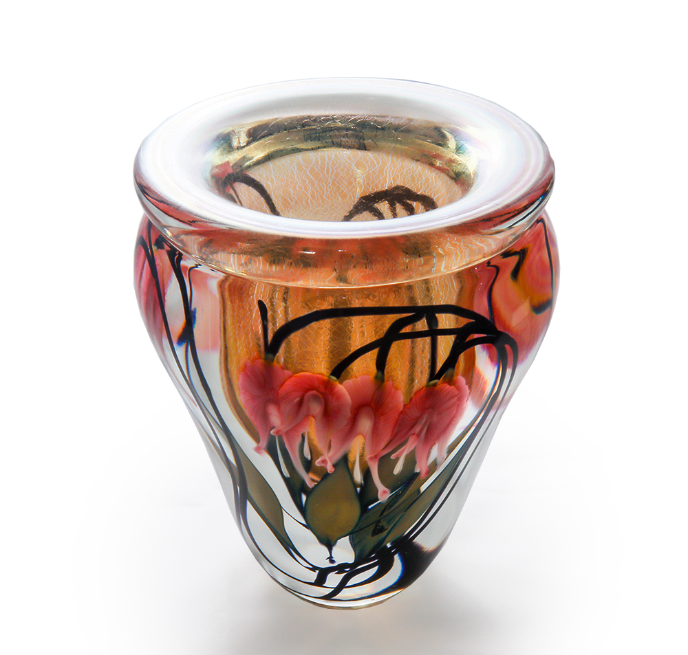 Lotton Sunset Vase w Pink Bleeding Hearts 2 - 9.5x8 shadow.jpg