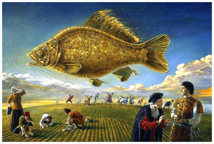Gold Fish Rising