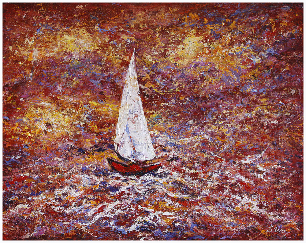 High Seas (Red on White)