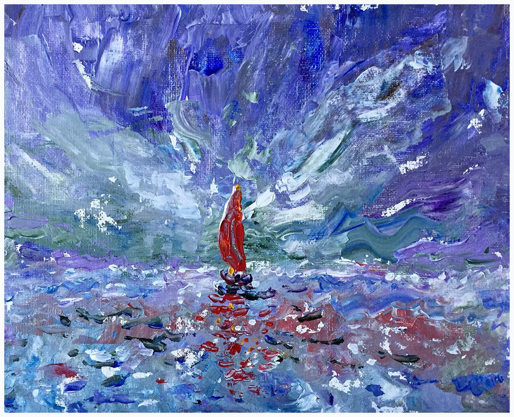Study (Red Sail)