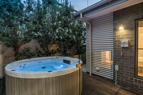 Relax in our outdoor Hot Tub