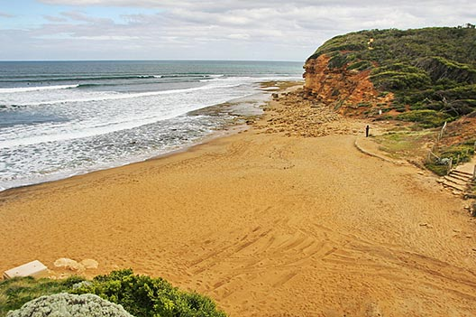 The world famous Bells Beach, home of the Rip Curl Pro surfing competition.