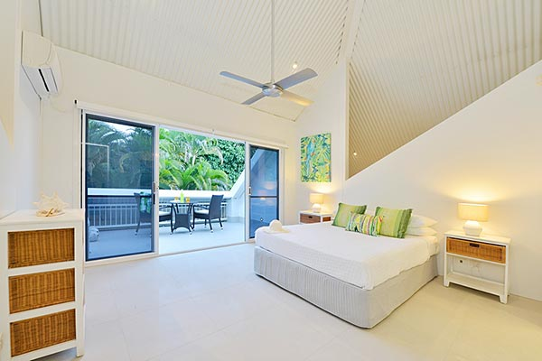Upstairs bedroom with ensuite and balcony