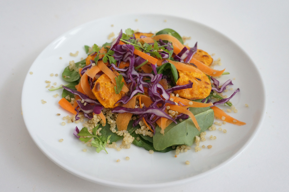 Sweet Potato Salad with Thai Peanut Sauce
