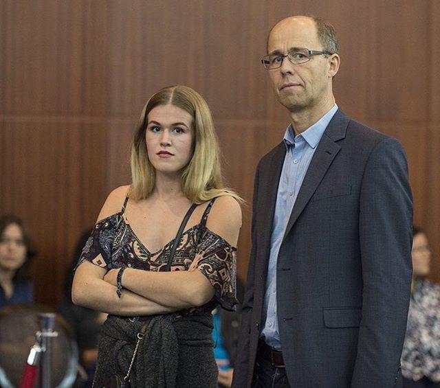 Henrik and Ingrid Carlsen.  Photo: @davidllada #Qatar_Masters #norway #sjakk #chess #ajedrez #schaak, #echecs #echecs @magnus_carlsen