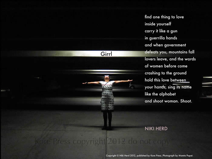 Girrl by Niki Herd (a Broadside by Kore Press)