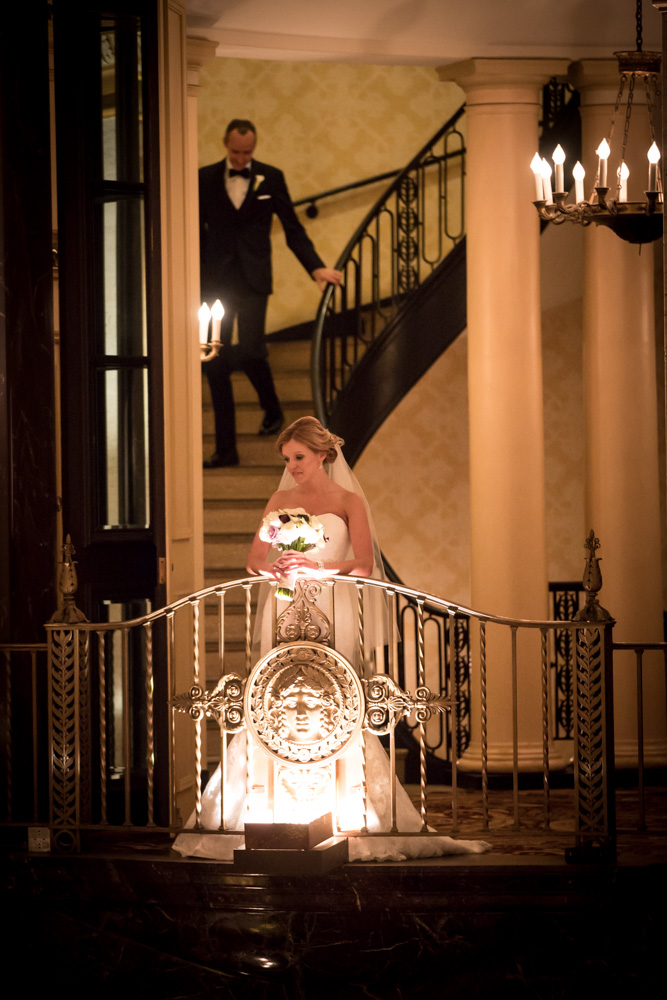 rachel + tom chicago palmer house rookery finanacial district wedding rose gold -006.jpg