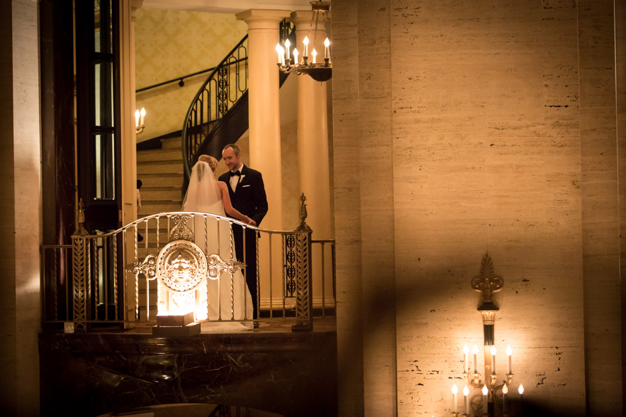 rachel + tom chicago palmer house rookery finanacial district wedding rose gold -007.jpg