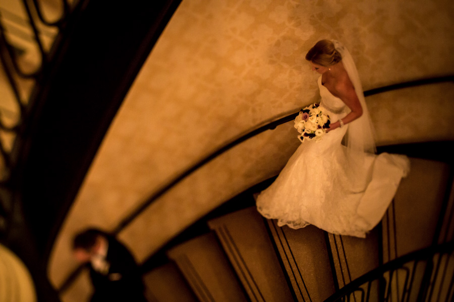 rachel + tom chicago palmer house rookery finanacial district wedding rose gold -011.jpg