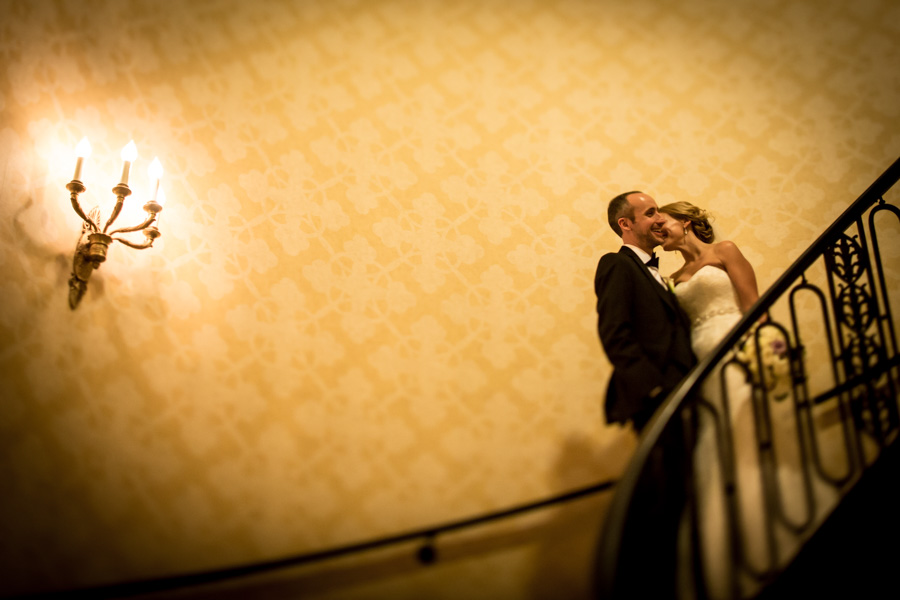 rachel + tom chicago palmer house rookery finanacial district wedding rose gold -010.jpg