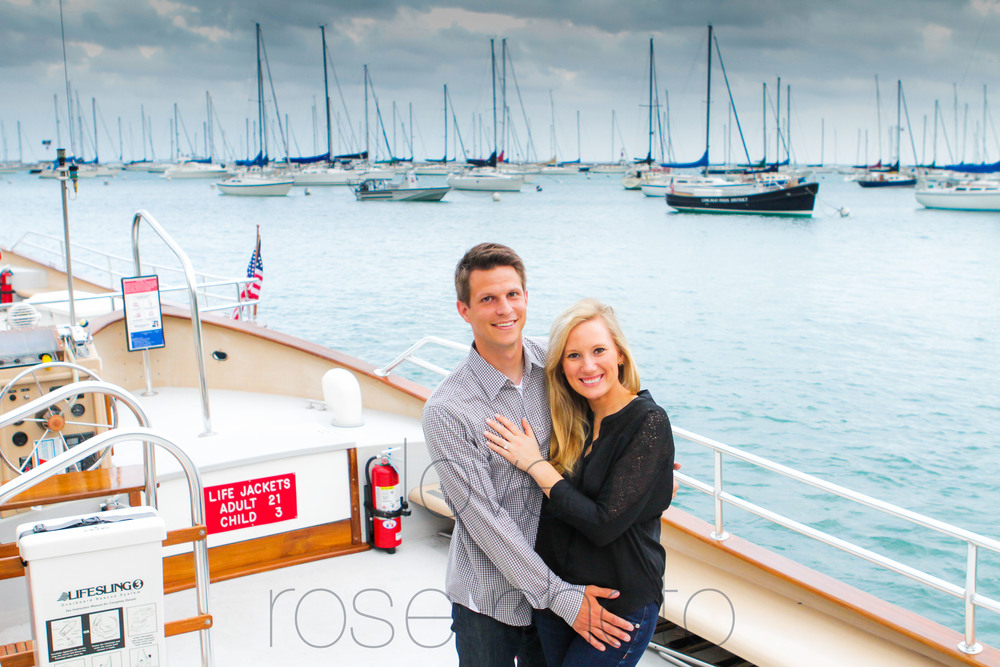 chicago yacht club lake front engagement shoot olive park chicago theater wedding photographer rose photo-002.jpg