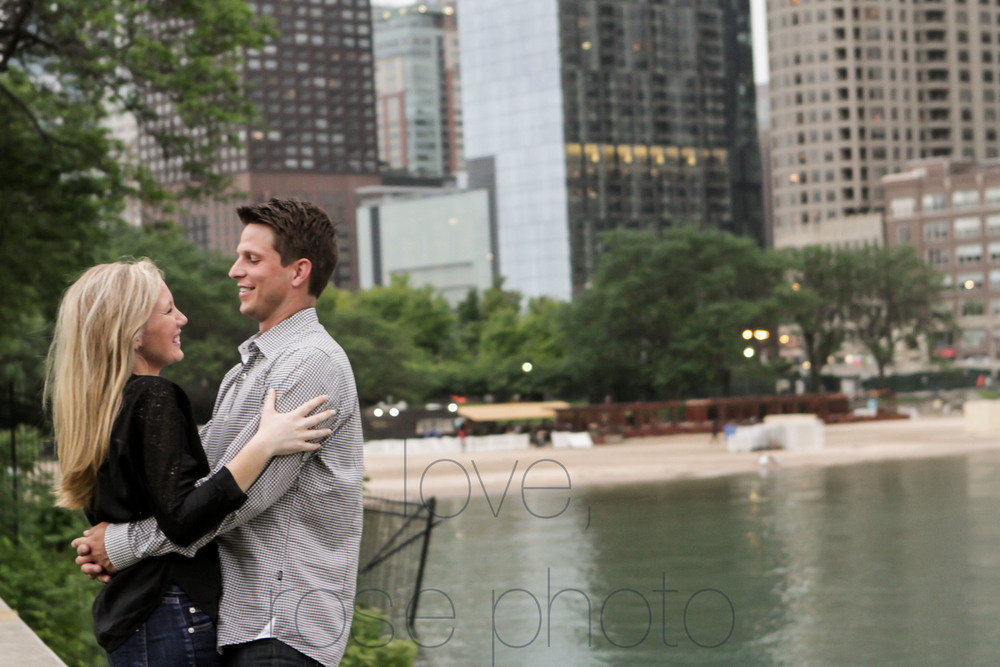 chicago yacht club lake front engagement shoot olive park chicago theater wedding photographer rose photo-007.jpg