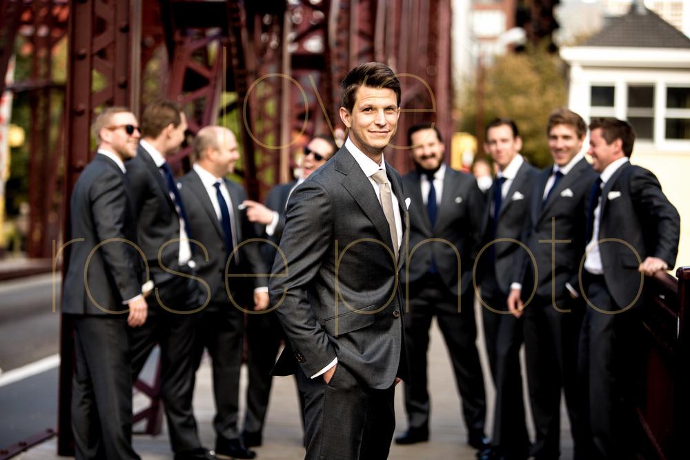Jodie + Phil Chicago wedding Galleria Marchetti Vera Wang Modern Luxury Brides CS rosegold kinzie street brige -016.jpg