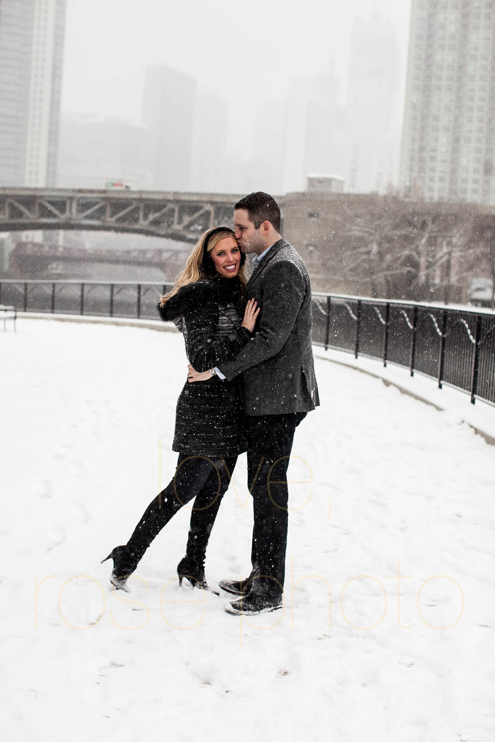 Meredith + Ross NYE 2016 Green Door Tavern River  North Erie Cafe Rose Photo Custom Enagement Shoot Chicago Wedding Photographer -5.jpg