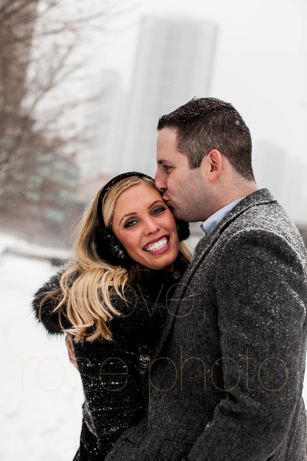 Meredith + Ross NYE 2016 Green Door Tavern River  North Erie Cafe Rose Photo Custom Enagement Shoot Chicago Wedding Photographer -9.jpg