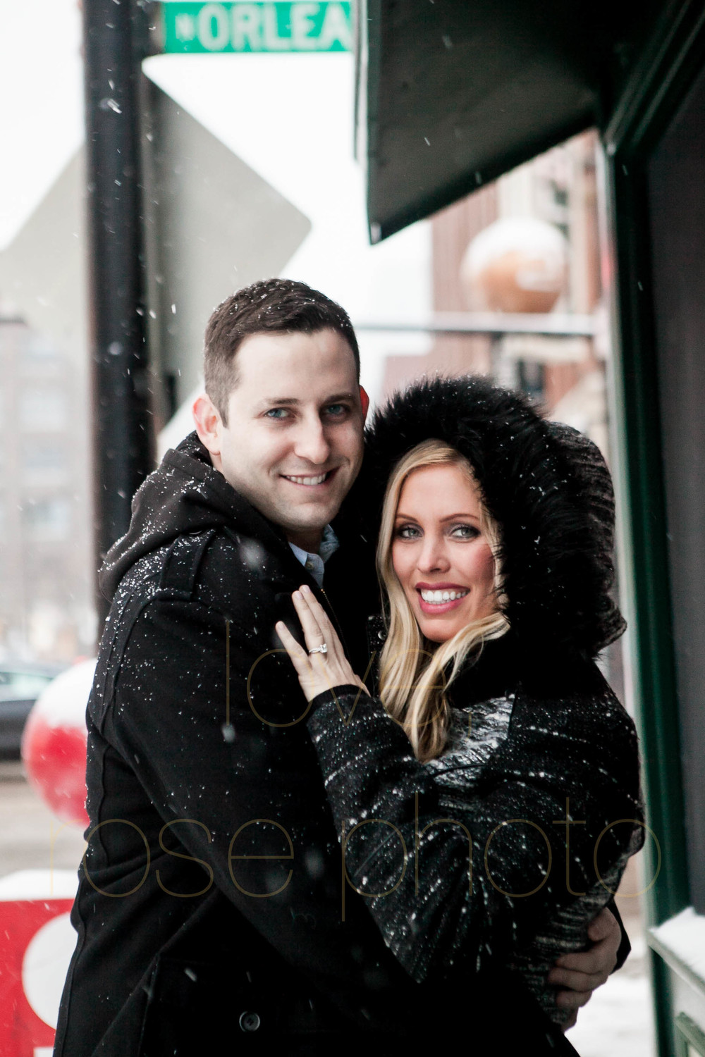 Meredith + Ross NYE 2016 Green Door Tavern River  North Erie Cafe Rose Photo Custom Enagement Shoot Chicago Wedding Photographer -14.jpg