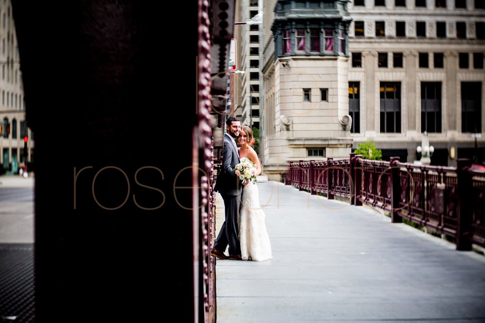 Justine + Matt big day downtown Chicago River Roast wedding by Rose Photo-28.jpg