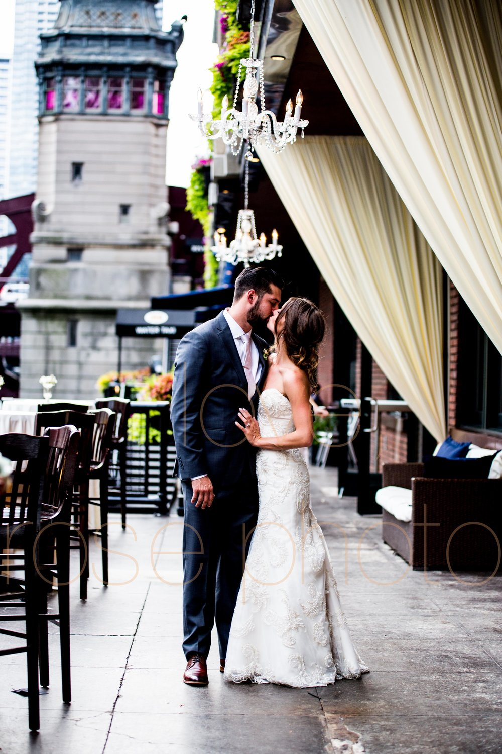 Justine + Matt big day downtown Chicago River Roast wedding by Rose Photo-36.jpg