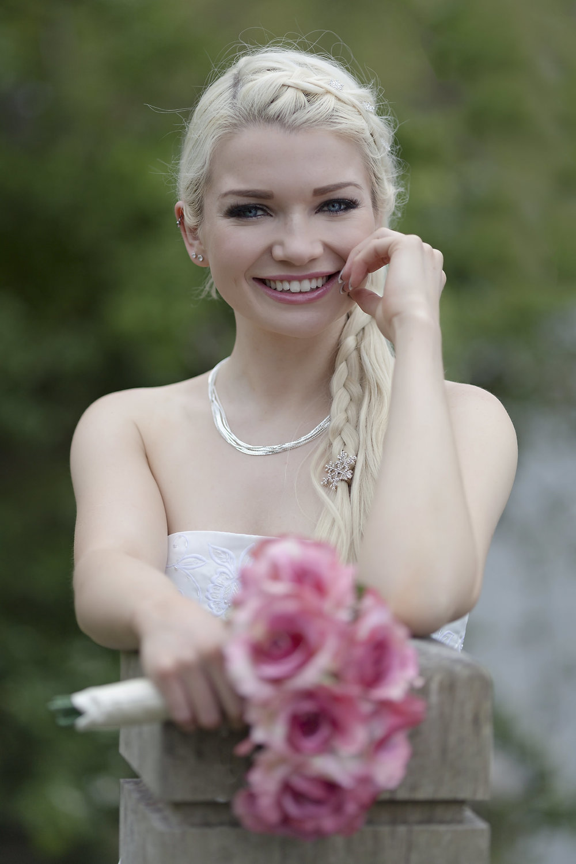 Lydia: bridal portrait from Bath & Wiltshire wedding photographer English Photoworks.