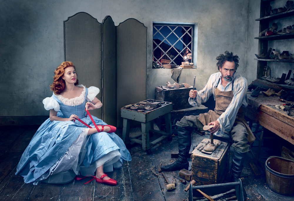 Amy Adams & Tim Burton, by Annie Leibovitz