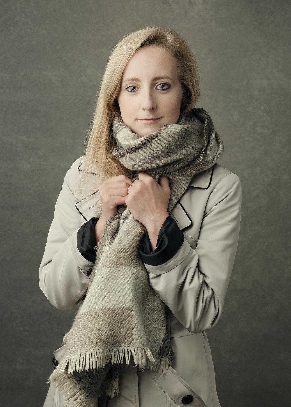 Susannah, winter coat & scarf