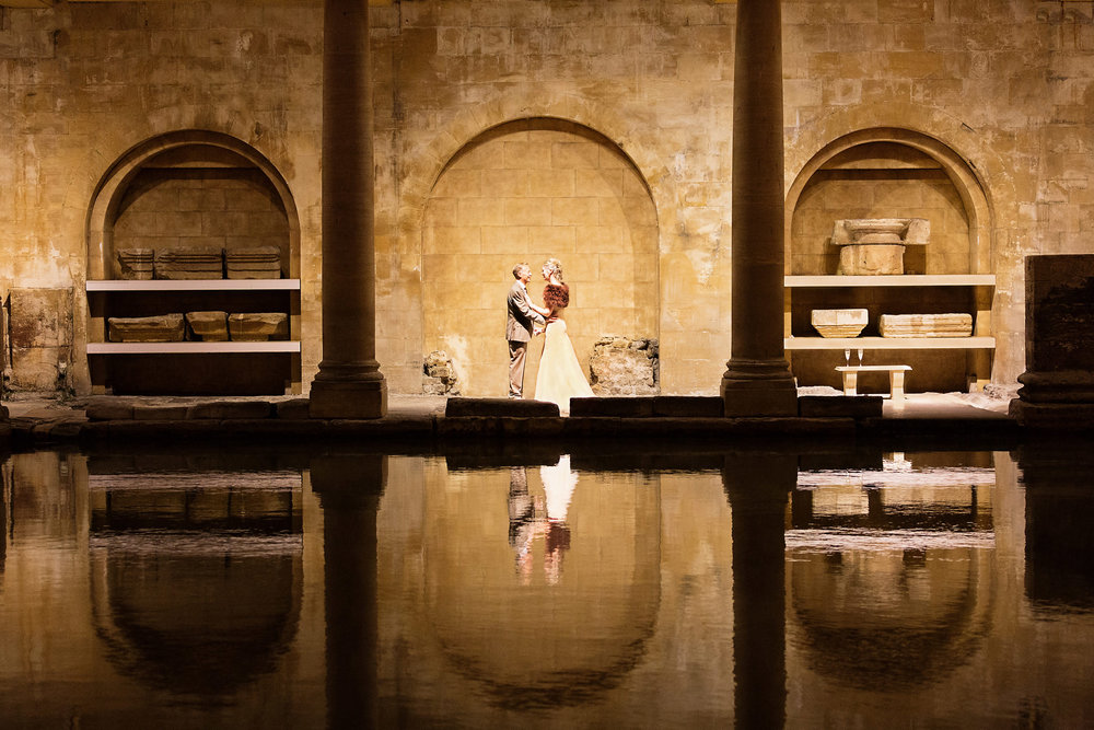 Roman Baths for wedding photography