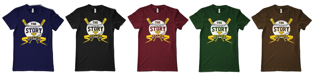 THE STORY CHANGES are currently running a special opportunity to customize your own TSC shirt in the color of your choice. They have made a special baseball design and will be running this option for a limited time only. These will NOT be available to chose from at shows, so get your shirt this weekend!     http://thestorychanges.storenvy.com/products/342323-combo-customizable-baseball-shirt-digital-download