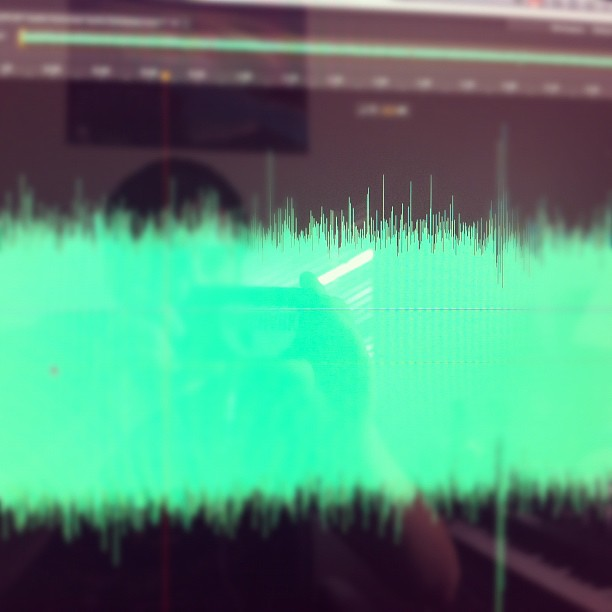 Doing audio for a new Punk Rock Hotel session (Taken with instagram)