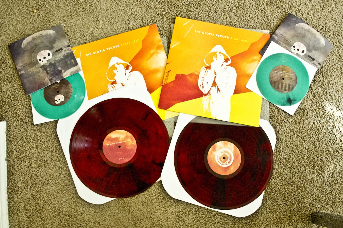 "NEW DISTRO items up in the store: for MINERAL fans, we have THE GLORIA RECORD's  Start Here  LP in beautiful maroon/clear combo as well as the newest split 7"" from DEADHORSE and HALF HEARTED HERO. Pick these up now, just listened to them and you NEED these records.    http://iamshark.limitedpressing.com/store"
