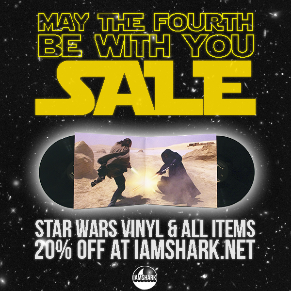 MAY THE FOURTH BE WITH YOU!   All Vinyl / Apparel / Accessories are 20% off automatically today!    http://iamshark.limitedrun.com
