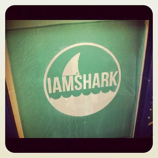 Screen for I Am Shark shirts, excited to get these done this week! (Taken with instagram)
